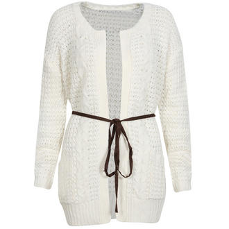 View Item Belted Crochet Cardigan